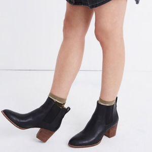 *NWOT!* Women Madewell Regan Black Bootie - Size 8